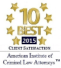 Logo Recognizing Robert Crow Law's affiliation with 10 Best Criminal Law Attorneys